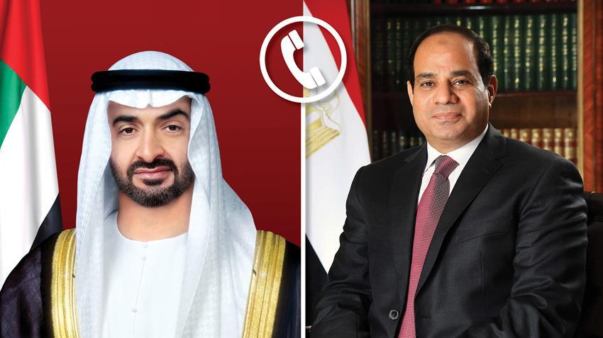 الرئيس عبد الفتاح السيسى يجري اتصالًا هاتفيًّا بولي عهد أبوظبي