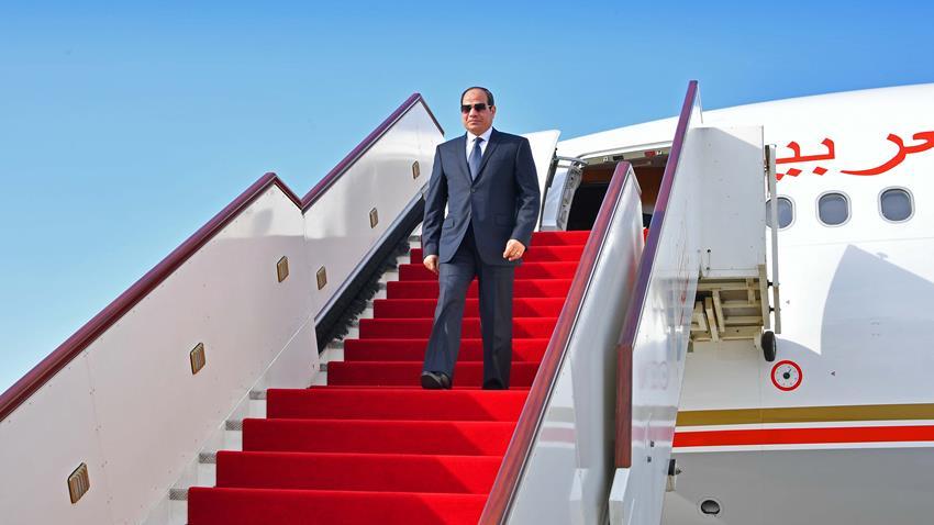 الرئيس عبد الفتاح السيسي يعود لأرض الوطن قادمًا من اليابان بعد مشاركتة في قمة العشرين