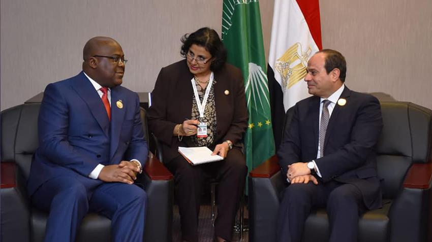 الرئيس عبد الفتاح السيسي يلتقي برئيس جمهورية الكونغو الديمقراطية