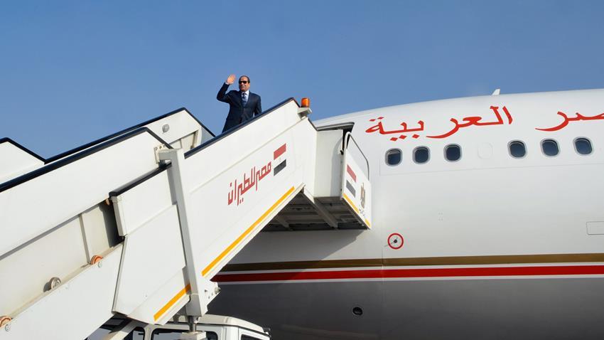 الرئيس عبد الفتاح السيسي يتوجه إلى العاصمة الأردنية عمان