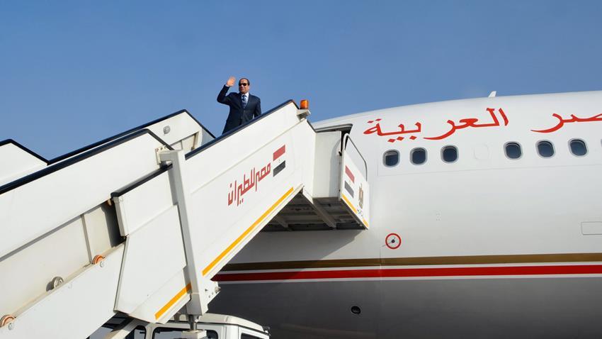 الرئيس عبد الفتاح السيسي يتوجه إلى الخرطوم في زيارة رسمية لجمهورية السودان