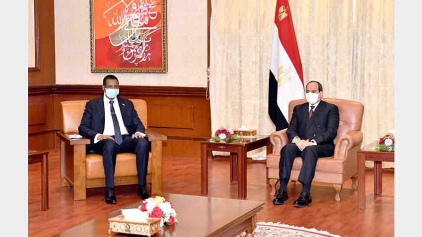 الرئيس عبد الفتاح السيسي يلتقي نائب رئيس مجلس السيادة الانتقالي السوداني