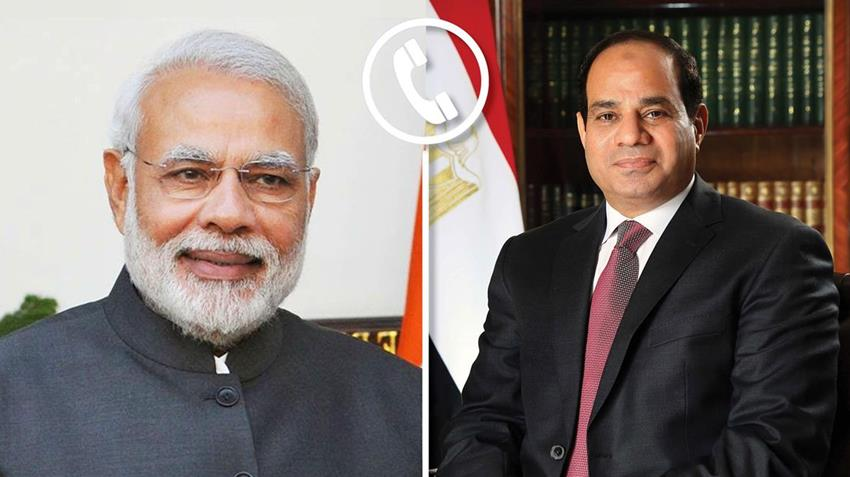 الرئيس عبد الفتاح السيسي يتلقى اتصالًا هاتفيًا من رئيس وزراء الهند.