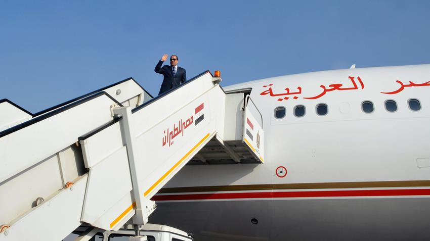 الرئيس عبد الفتاح السيسي يتوجه إلى جيبوتي لعقد لقاء قمة مع رئيس جمهورية جيبوتي