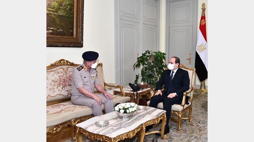 الرئيس عبد الفتاح السيسي يستقبل الفريق أول محمد زكي