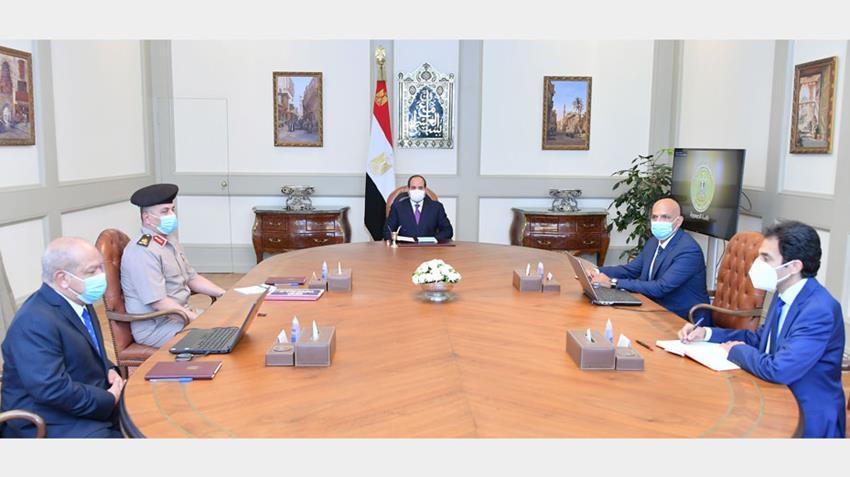 الرئيس عبد الفتاح السيسي يطلع على مخطط إنشاء أول مصنع لدباغة الجلود في الشرق الأوسط وأفريقيا