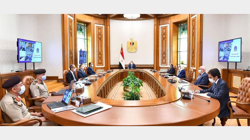 الرئيس عبد الفتاح السيسي يتابع الموقف التنفيذي لإنشاء الشبكة الوطنية الموحدة للطوارئ والسلامة العامة