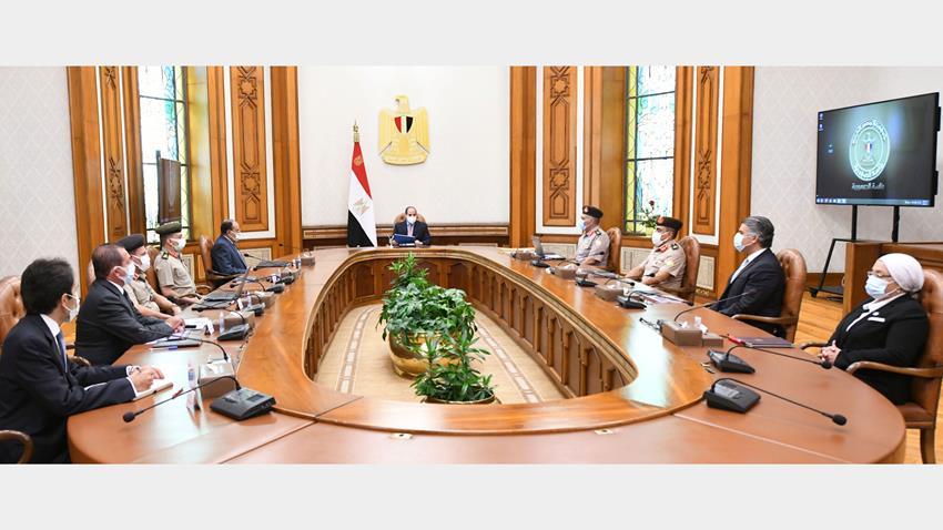 الرئيس عبد الفتاح السيسي يتابع الموقف التنفيذي لمشروعات الهيئة الهندسية على مستوى الجمهورية