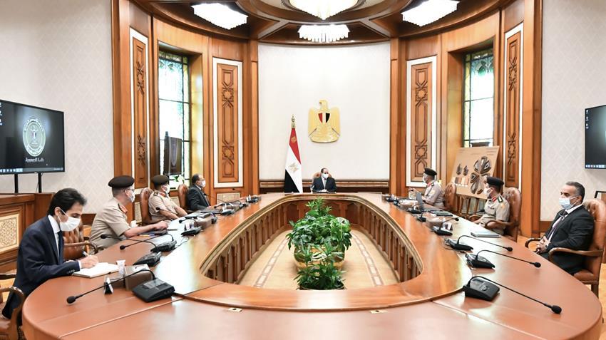 الرئيس عبد الفتاح السيسي يتابع الموقف الإنشائي والهندسي لعدد من مشروعات الهيئة الهندسية