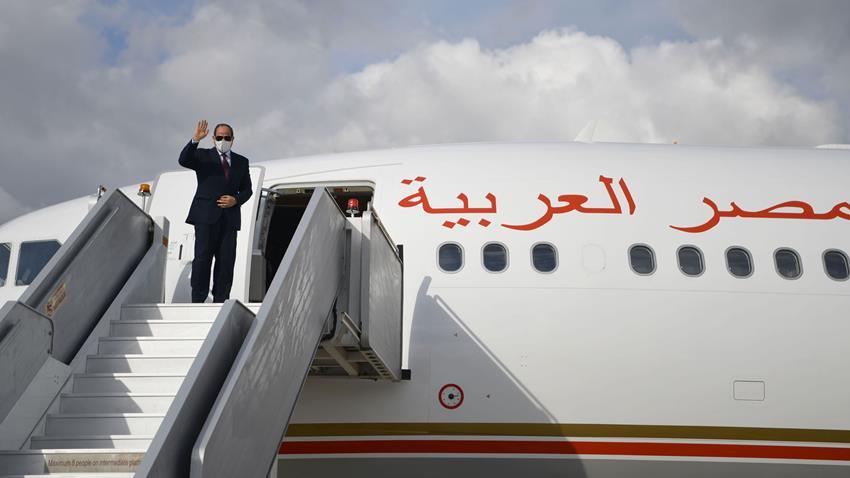 الرئيس عبد الفتاح السيسي يعود إلى أرض الوطن