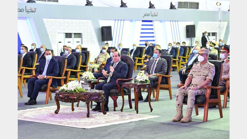 الرئيس عبد الفتاح السيسي يفتتح مجموعة مشروعات إسكان بديل المناطق غير الآمنة من منطقة ٦ أكتوبر