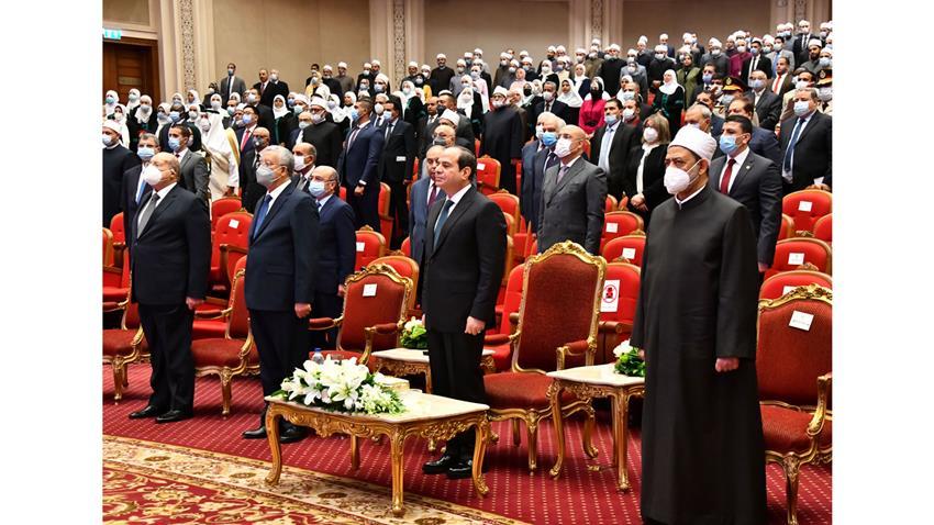 الرئيس عبد الفتاح السيسي يكرم عدد من الشخصيات والعلماء بمناسبة المولد النبوي الشريف