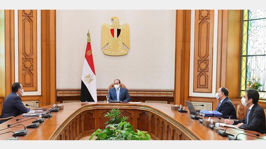الرئيس عبد الفتاح السيسي يجتمع برئيس مجلس الوزراء ووزير المالية
