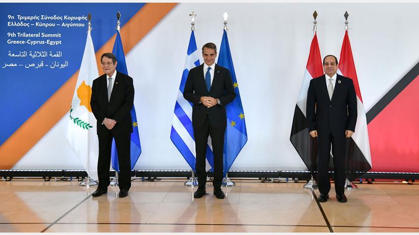 الرئيس عبد الفتاح السيسي يشارك في انطلاق القمة الثلاثية التاسعة بين مصر وقبرص واليونان