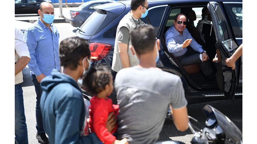 الرئيس عبد الفتاح السيسي يتفقد الأعمال الإنشائية لتطوير عدد من الطرق والمحاور بمنطقة شرق القاهرة