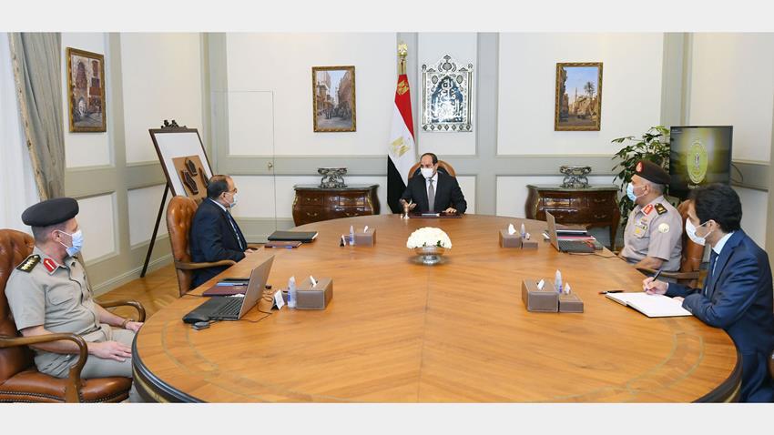 الرئيس عبد الفتاح السيسي يتابع الموقف التنفيذي لعدد من مشروعات الهيئة الهندسية على مستوى الجمهورية