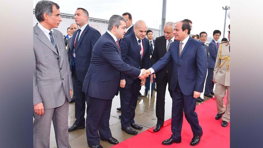 الرئيس عبد الفتاح السيسي يصل إلى مدينة أوساكا اليابانية للمشاركة في قمة مجموعة العشرين
