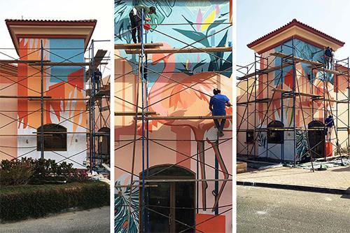 تطوير العشوائيات بالجداريات والفنون التشكيلية