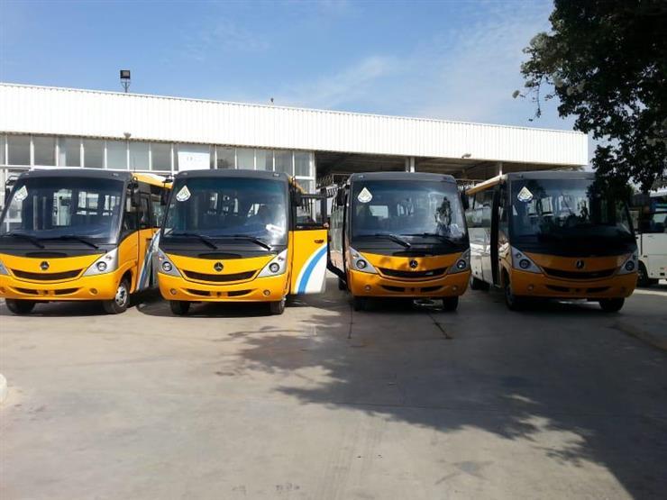 تشغيل 4 أتوبيسات للنقل الداخلي بمدينة بني سويف الجديدة