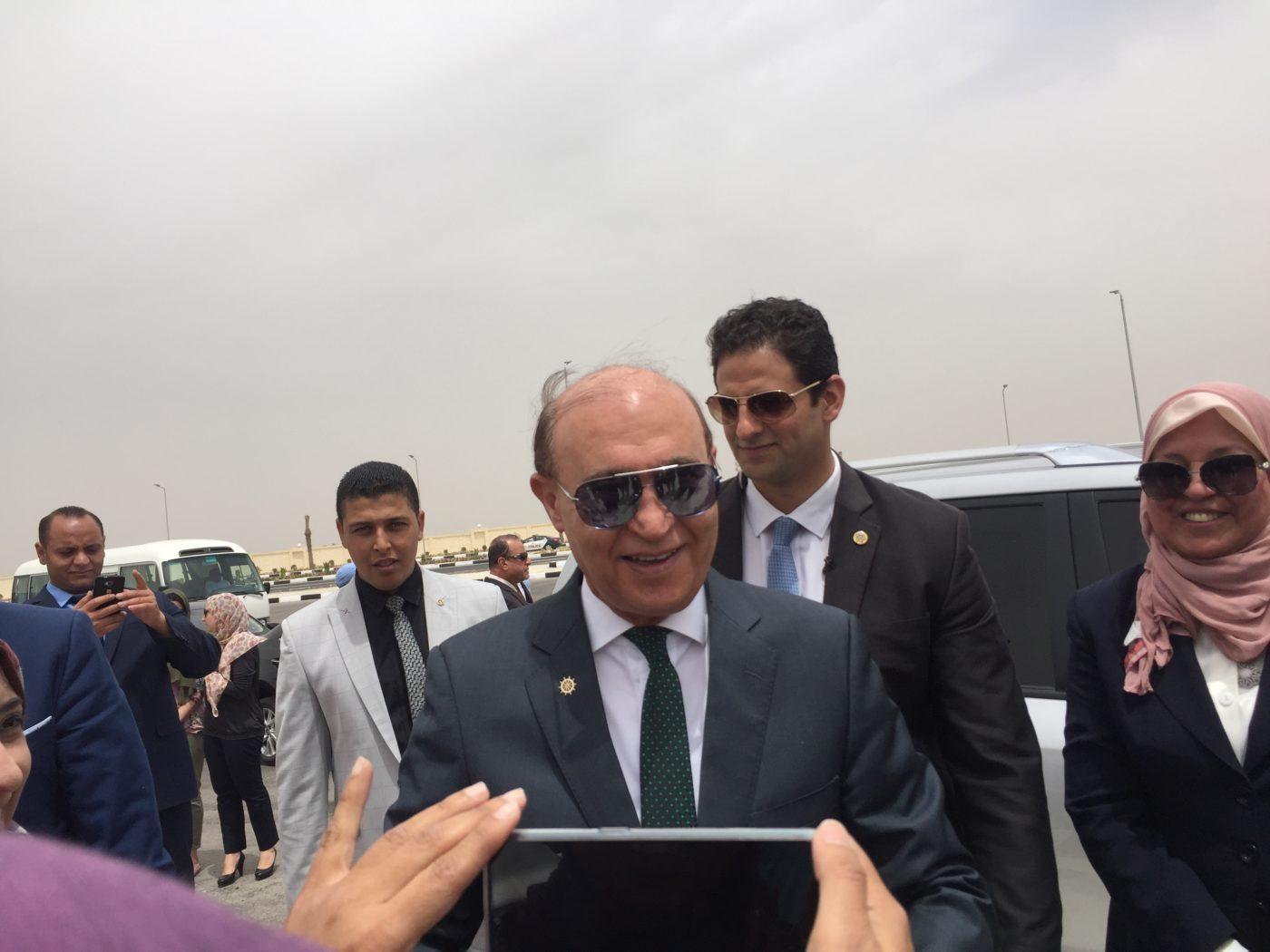 الفريق مهاب مميش يشهد التشغيل التجريبى لأنفاق تحيا مصر أسفل قناة السويس