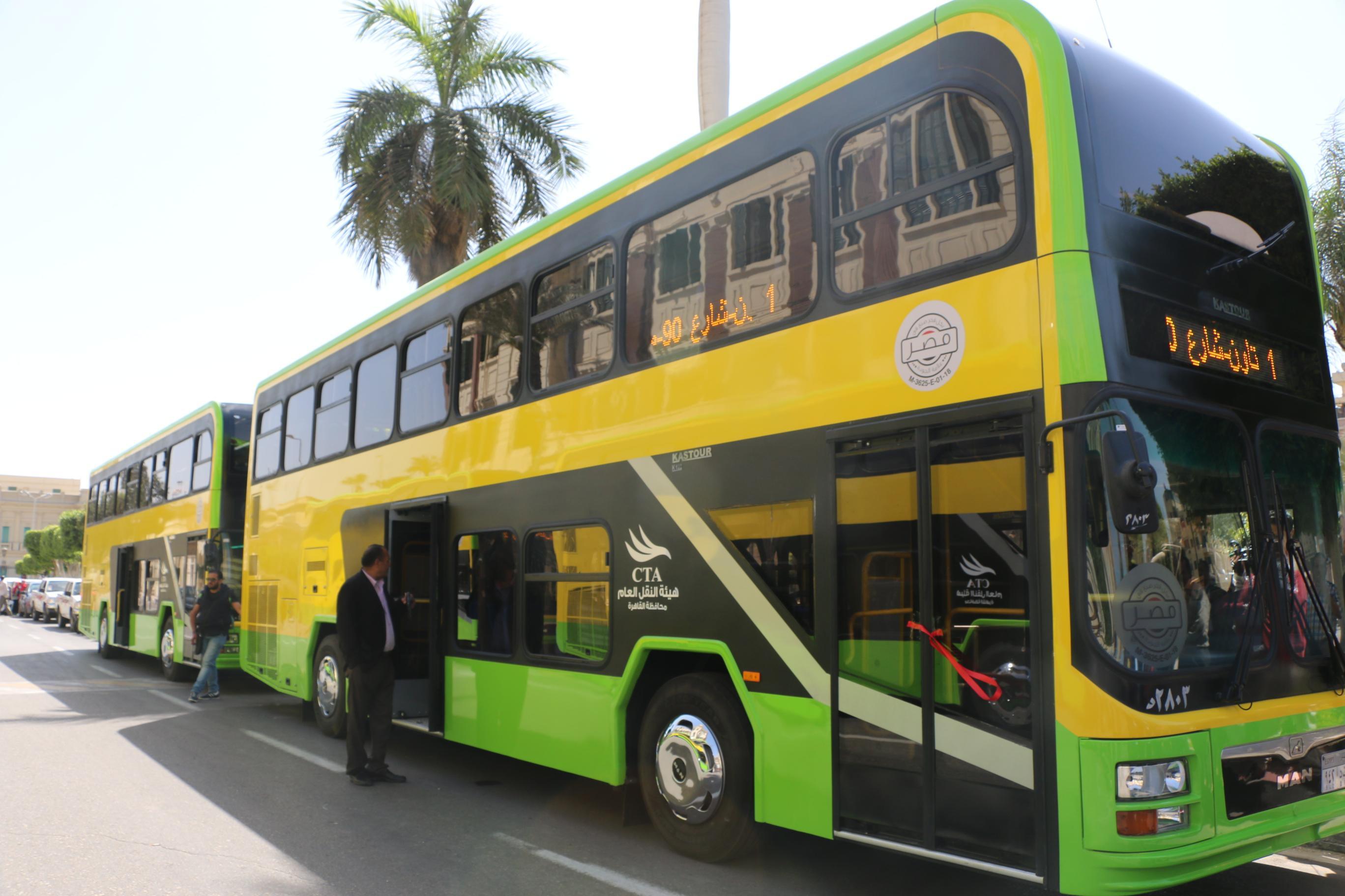 النقل العام تطرح 20 أتوبيسًا جديدًا لربط مدينة الشروق بالقاهرة