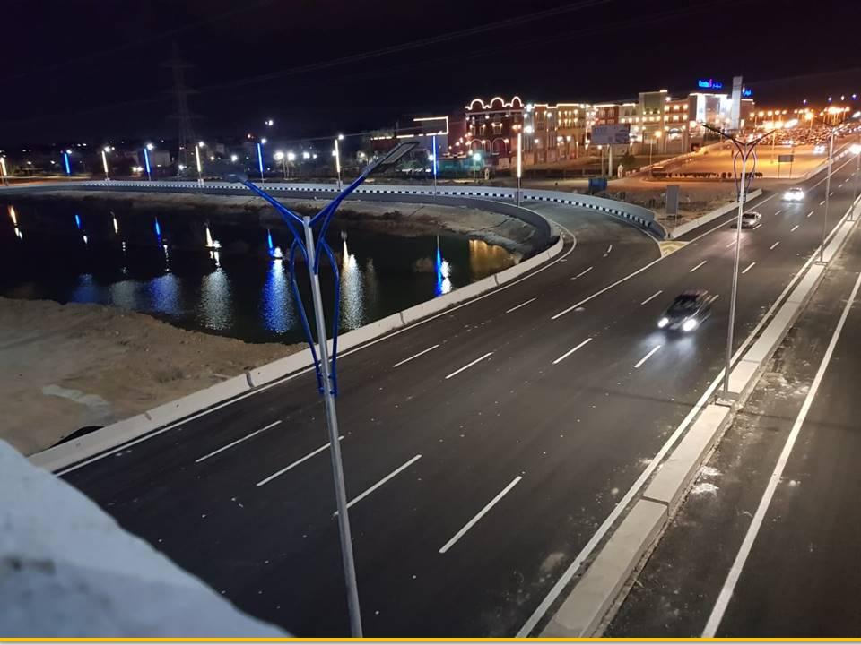 انتهاء تطوير وتوسيع المحور التنموى فى برج العرب بتكلفة 700 مليون جنيه