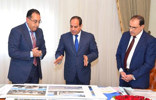 السيسي يجتمع بوزير الإسكان لعرض جهود التوسع في إنشاء مدارس النيل وتطورات العاصمة الإدارية
