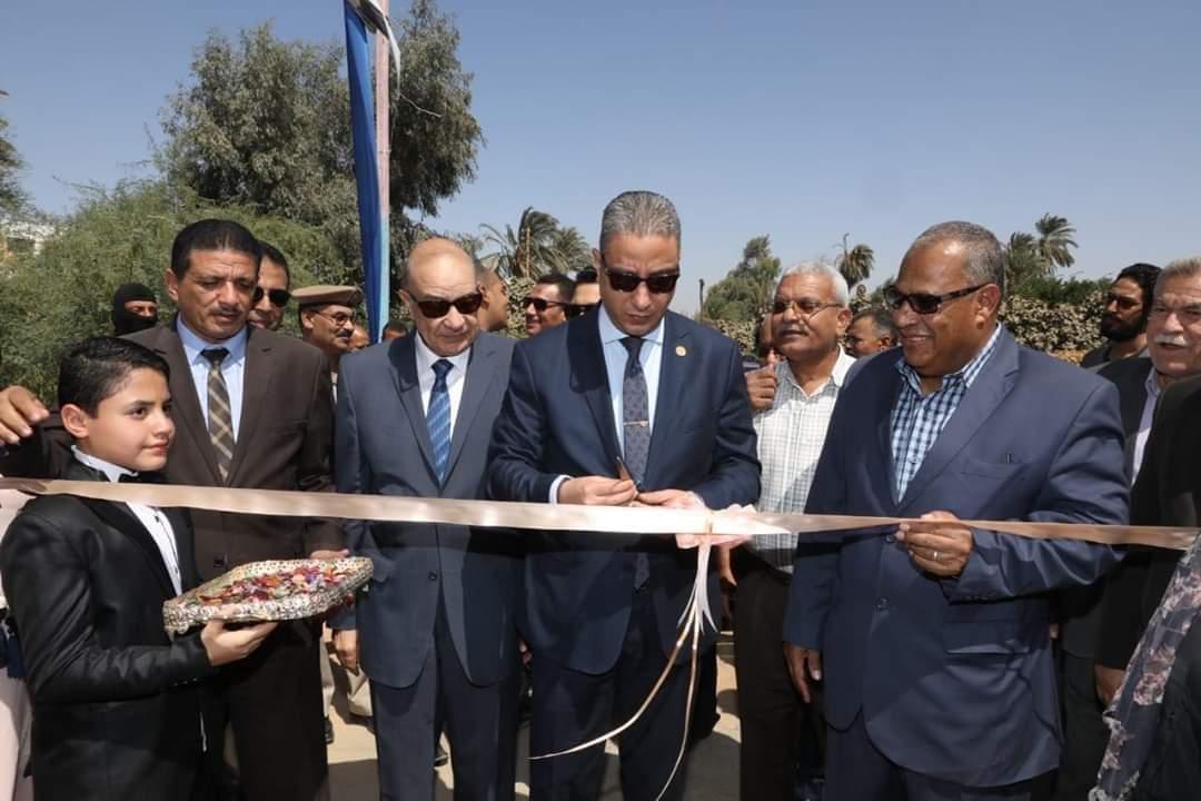افتتاح مشروعي صرف صحي بمدينة طما