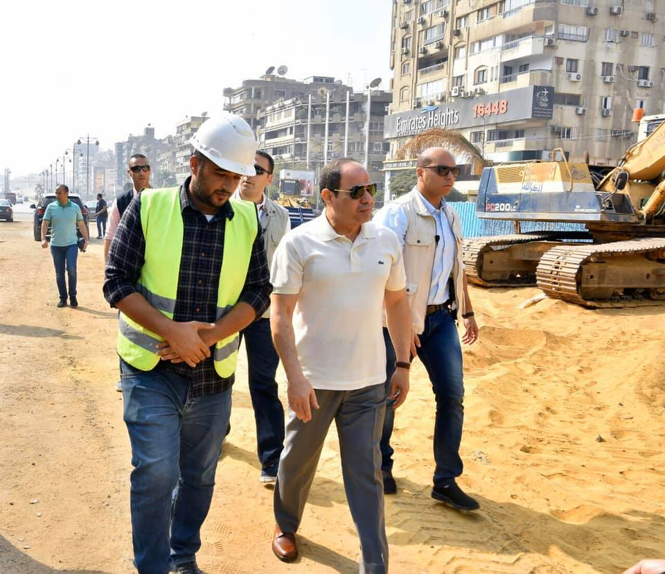 الرئيس يوجه بإنجاز مشروعات طرق وكباري حي مصر الجديدة وفق جدول زمني سريع