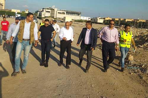 مساعد نائب رئيس هيئة المجتمعات العمرانية يتفقد موقف تنفيذ المرحلة العاجلة بمدينة رشيد الجديدة