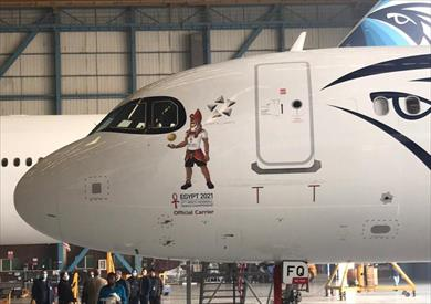 مصر للطيران تضع شعار بطولة كأس العالم لكرة اليد على طائراتها
