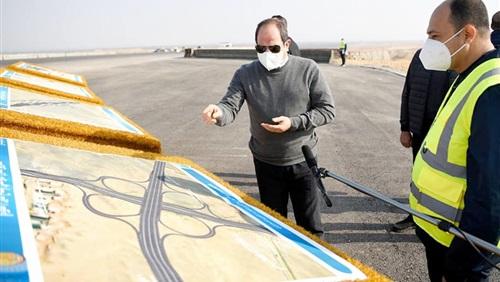 الرئيس السيسى على تويتر: الطريق الدائري الأوسطي إضافة كبيرة لمنظومة الطرق