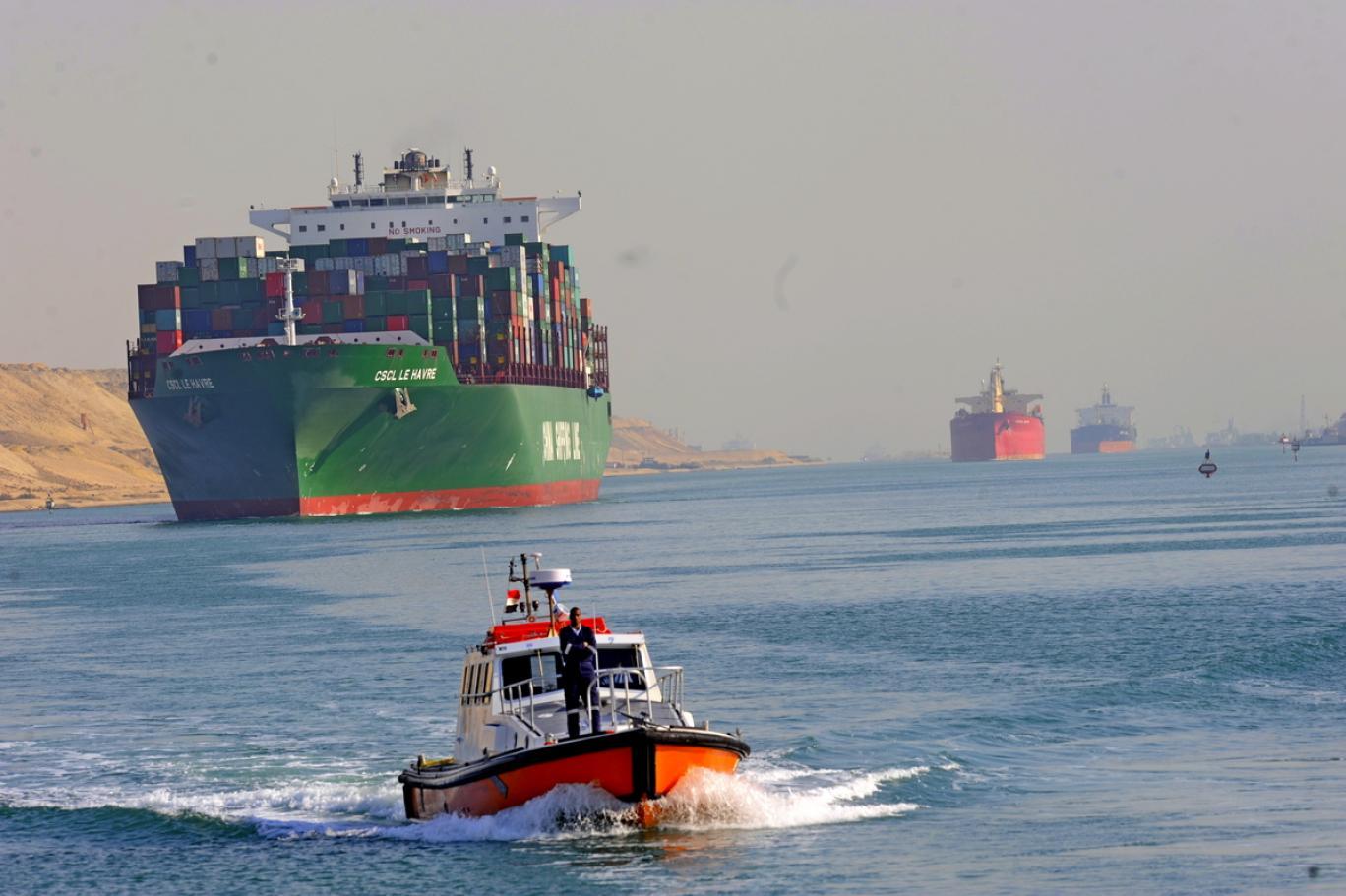 عبور 18829 سفينة قناة السويس بعائد 5.61 مليار دولار خلال 2020