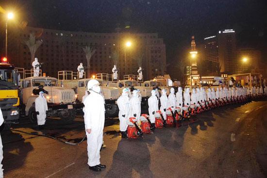 القوات المسلحة تبدأ تطهير مناطق يتردد عليها أعداد كبيرة من المواطنين ضد كورونا