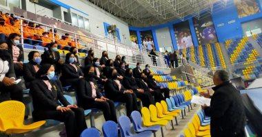 الأمن النسائى يشارك فى تأمين كأس العالم لليد مصر 2021