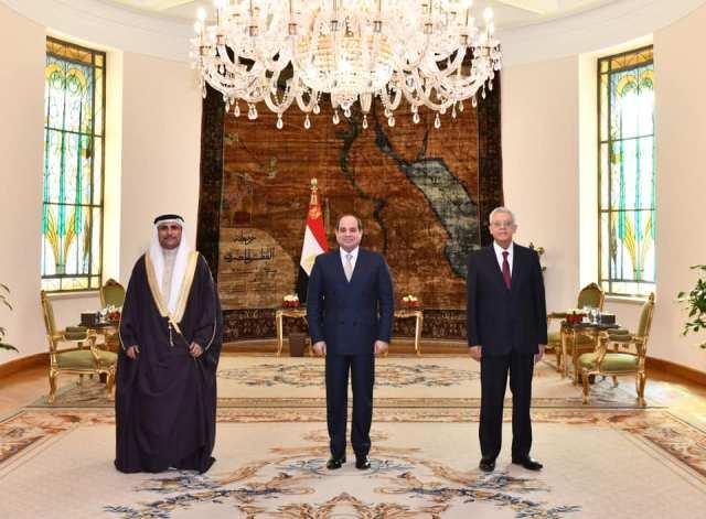 الرئيس السيسى يستقبل رئيس البرلمان العربى