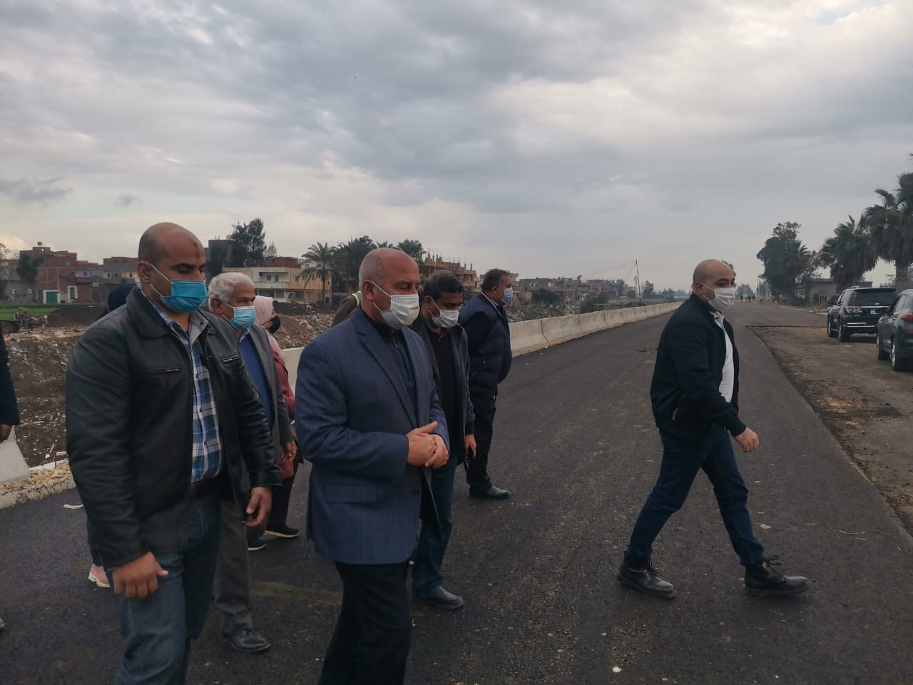 وزير النقل يتفقد طريق المنصورة - جمصة والمرحلة الأولى من الطريق الساحلى