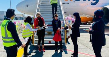 مطار الغردقة يستقبل أولى الرحلات القادمة من ليتوانيا بعد توقفها عامًا..