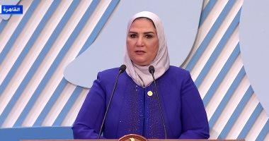 """وزيرة التضامن: 14.3 مليون فرد يستفيد من """"تكافل وكرامة"""" منهم 78% سيدات"""