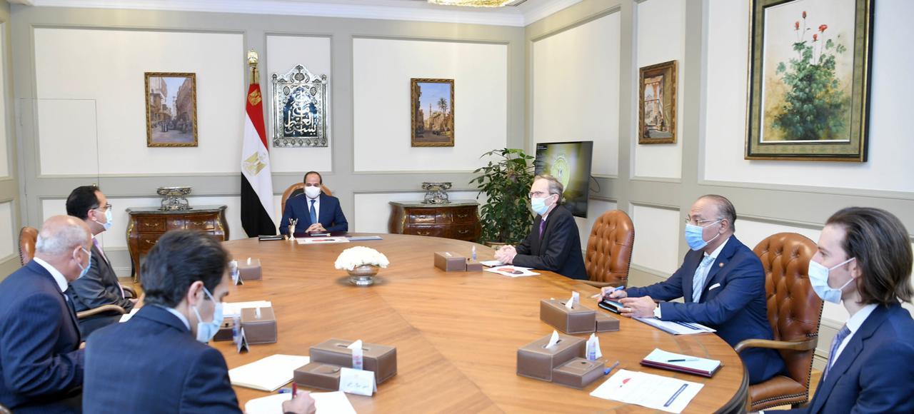 الرئيس يوجه بزيادة نسب توطين الصناعة والتكنولوجيا مع شركة ألستوم الفرنسية