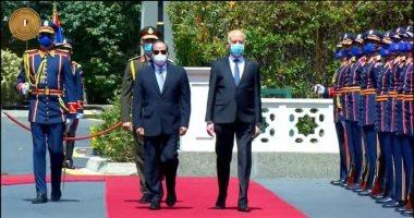 انطلاق القمة المصرية - التونسية بقصر الاتحادية بين الرئيسين السيسى وقيس سعيد