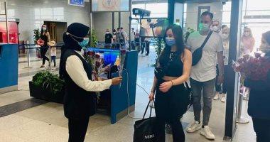 مطار الغردقة يستقبل أولى الرحلات السياحية القادمة من ألمانيا.. صور