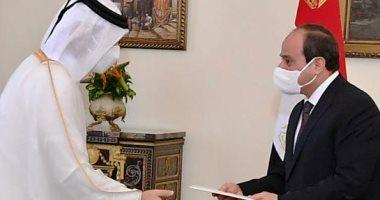 الرئيس السيسى يؤكد لوزير خارجية قطر أهمية تركيز الجهود لصالح شعبى البلدين