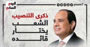شرعية الشعب والإنجاز.. 7 سنوات على تنصيب الرئيس السيسى (إنفوجراف)
