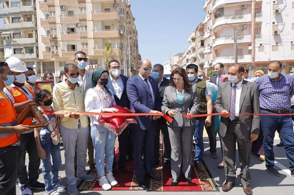 افتتاح طريق كورنيش النيل بمدينة فارسكور