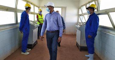 نائب وزير الإسكان يتفقد مشروعات المياه والصرف بمدينة بنى سويف الجديدة