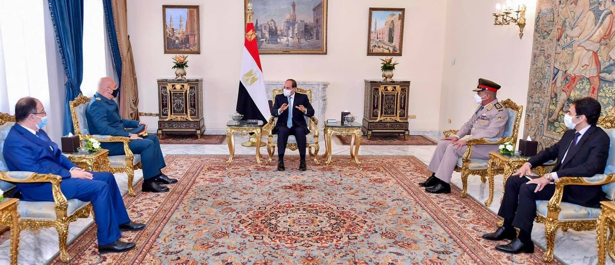 تفاصيل استقبال الرئيس السيسي قائد الجيش اللبناني