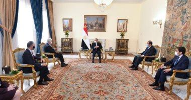 الرئيس السيسي يبحث مع مدير الاستخبارات الأمريكية مستجدات القضية الفلسطينية وسد النهضة