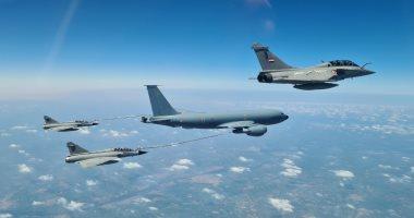 القوات الجوية المصرية والفرنسية تنفذان تدريبا مشتركا