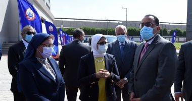وزيرة الصحة: الطاقة الإنتاجية لمصنع اللقاحات بـ6 أكتوبر 24 ألف عبوة فى الساعة